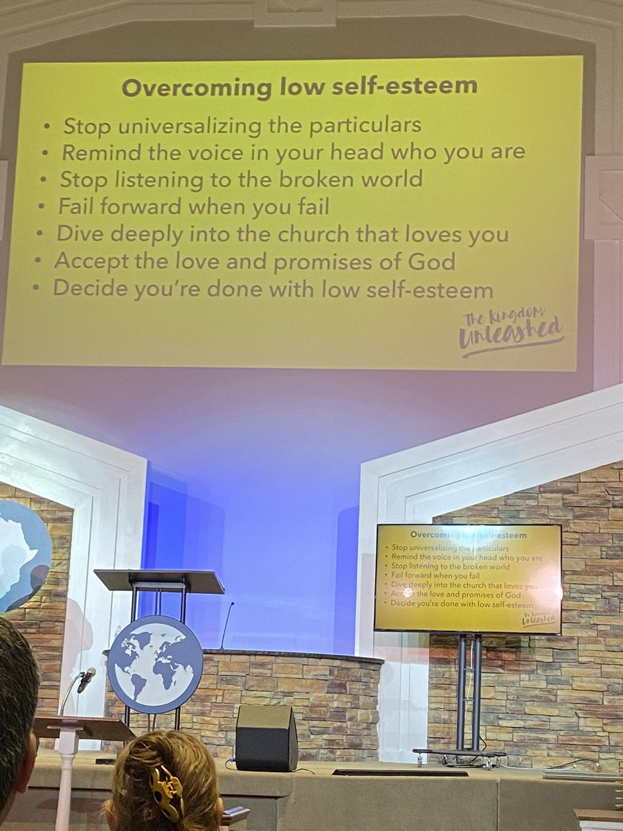 Great message this morning @northboulevard on how to overcome Low Self - Esteem #God1stpic.twitter.com/iBACj7tbty