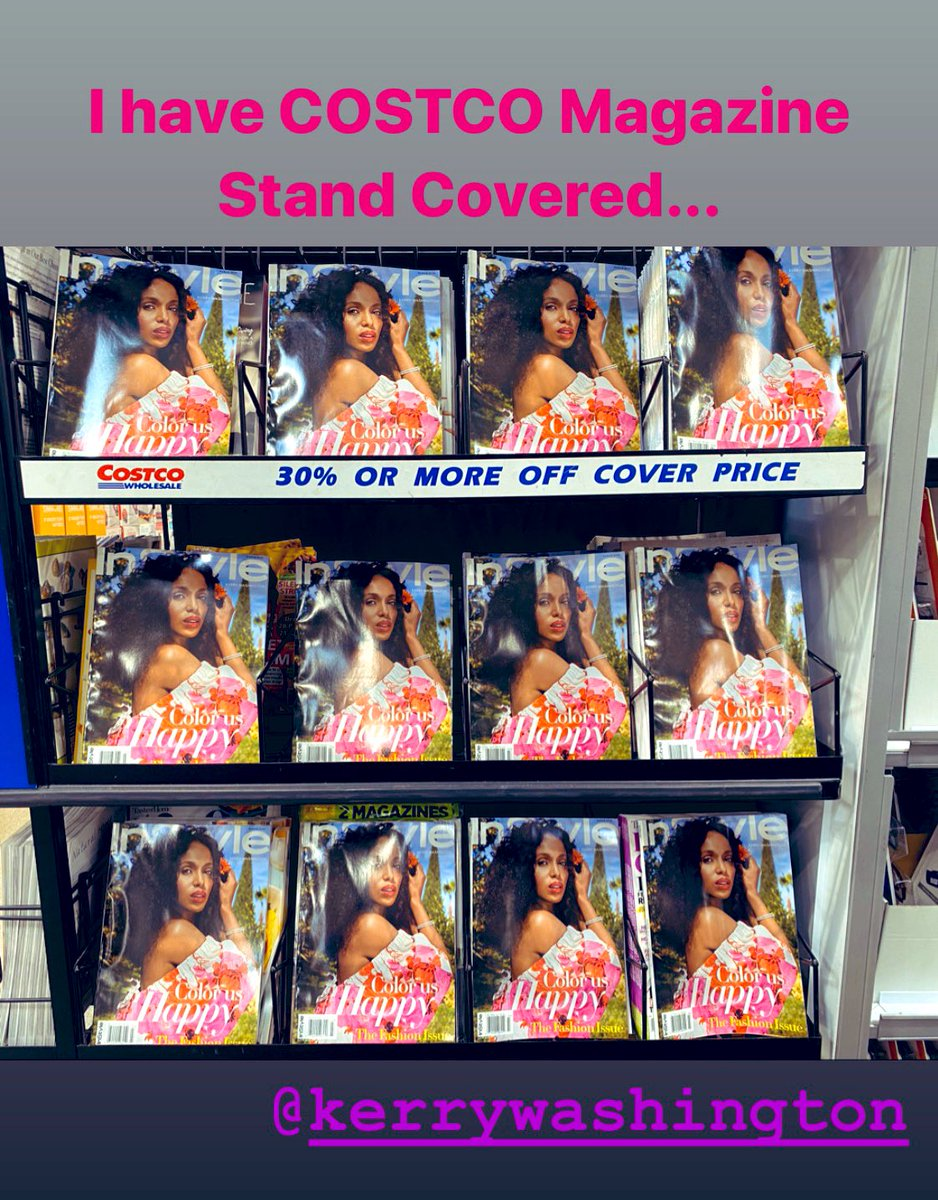 """I grabbed my @InStyle issue then """"handled"""" the Costco magazine stand...  pic.twitter.com/tjSXI4DA2c"""