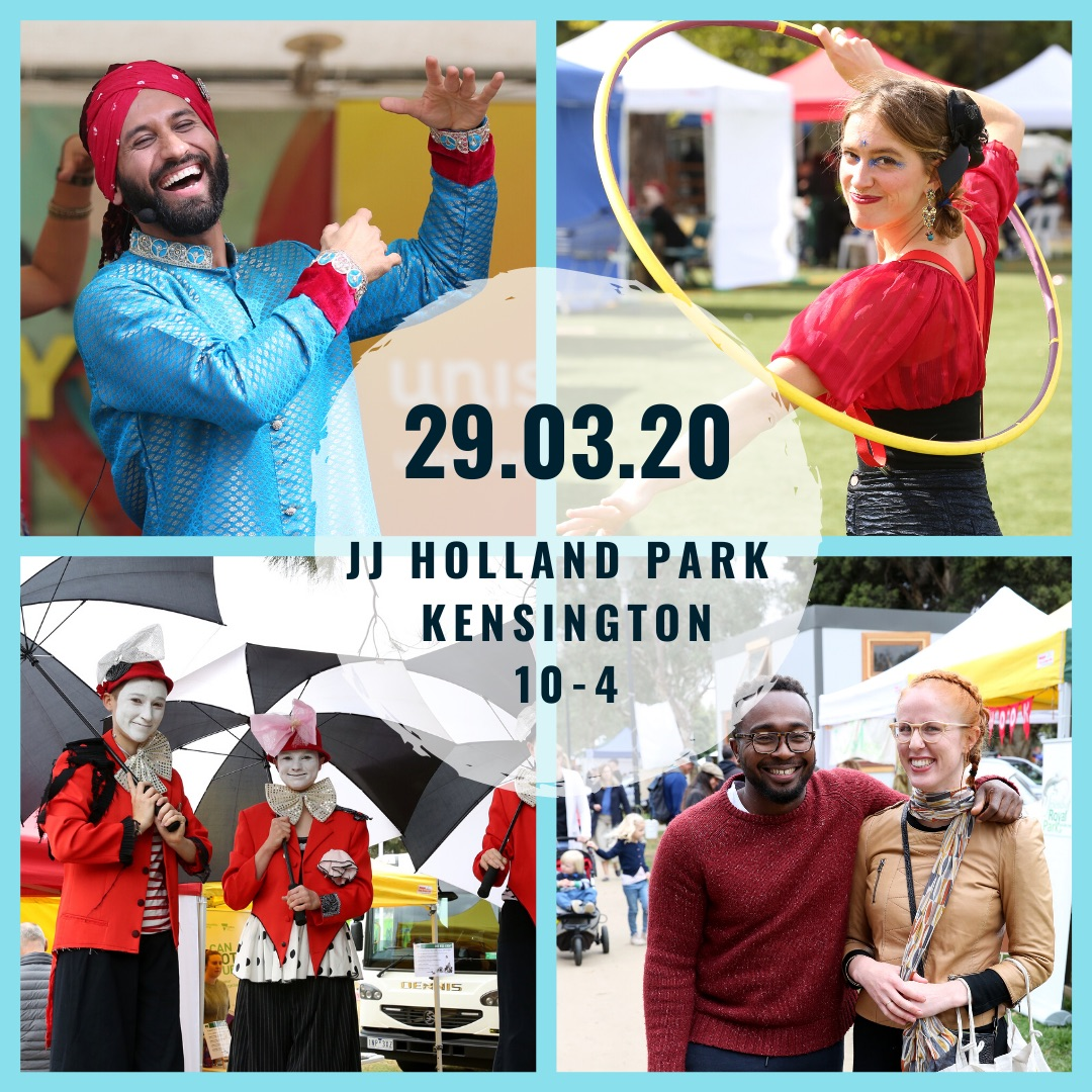 The Kensington CommUNITY Festival is back!  Come and celebrate our community on 29th March.  JJ Holland Park Kensington 10 - 4pm.  More details at http://kencommfest.org  #melbmoment #KenCommFest20 #community #festival #melbourne #diversity #freeevent #familyfun #sustainabilitypic.twitter.com/vGz66X5XDR