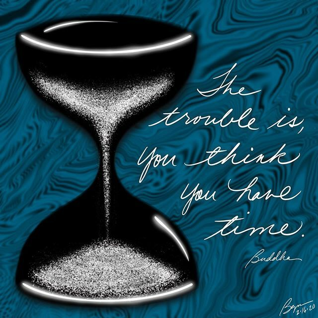 """The trouble is, you think you have time."" (Buddha)  #time #trouble #buddha #hourglass #taketime #maketime #notime  #notice #illustration #visualart #visualverbal #art #artoftheday #quotes #everydayquotes #words #wordsofwisdom #wordlove #creative #creati… https://ift.tt/2OXjndk pic.twitter.com/PXkDPO269q"
