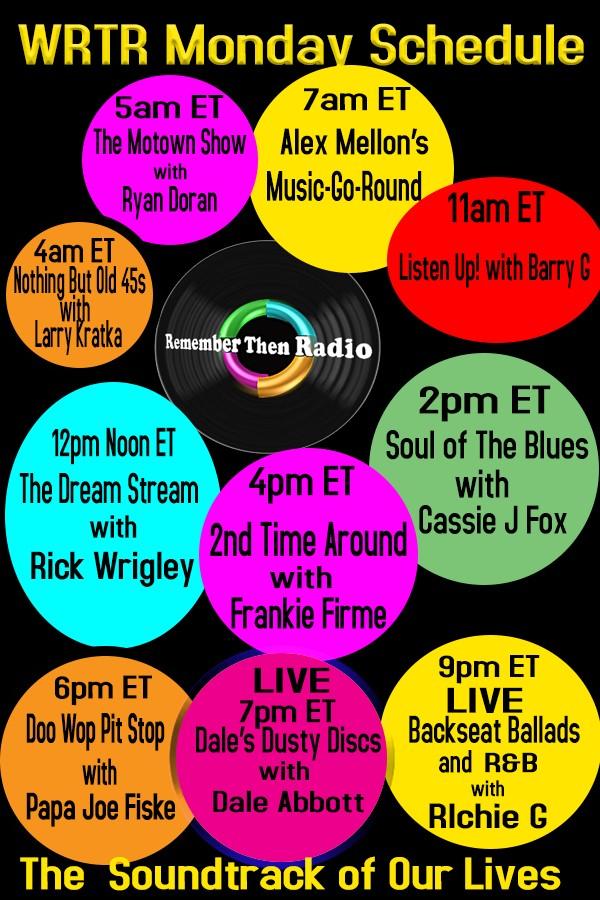 "#MondaySchedule #WRTR Syndicated ""Soul Of The Blues With Cassie CJ Fox"" @ 2-4pm EST Listen: http://rememberthenradio.com #Variety #Memories #Remember #Soul #RnB #Blues #VocalGroup #DooWop #MusicMonday #BlueMonday #Flashbackpic.twitter.com/Z1crfxTeRA"