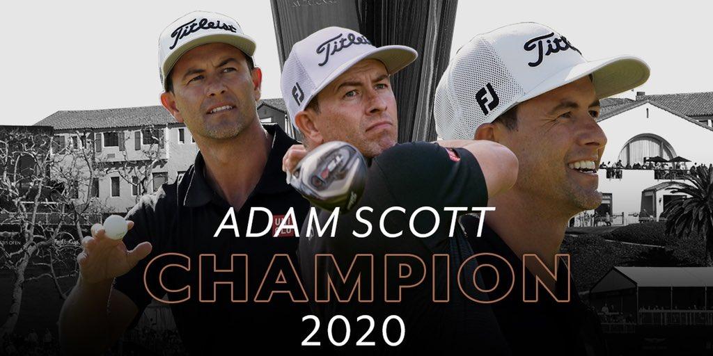Let's make it official, Adam Scott