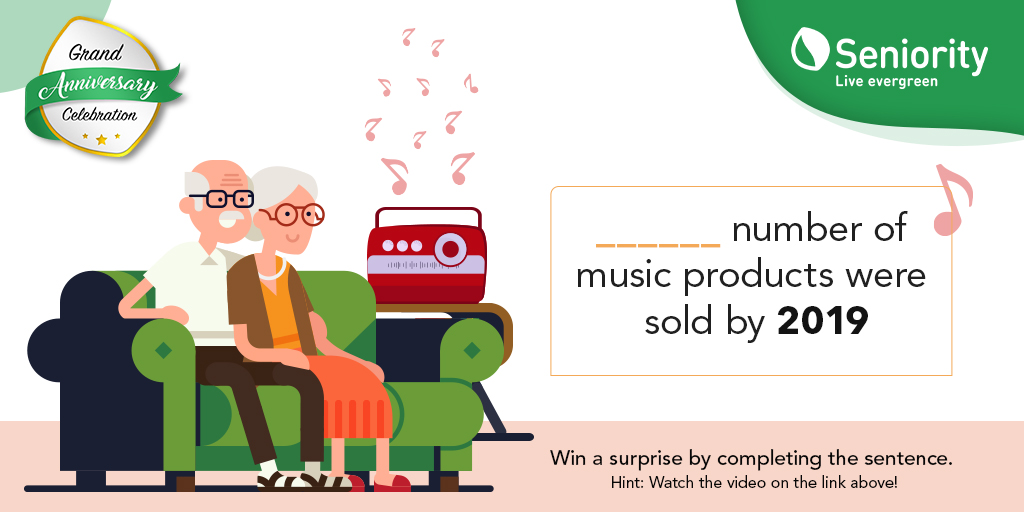 #ContestAlert It's our anniversary. Join the celebration by participating in the contest. To win the surprise, all you need to do is watch the video and complete the sentence below http://bit.ly/31GjZZX   #Seniority #LiveEvergreen #GrandAnniversaryCelebration