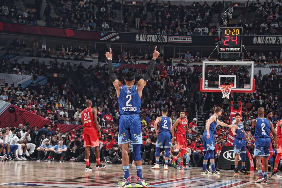 #TeamLeBron wins it 157-155! #NBAAllStar