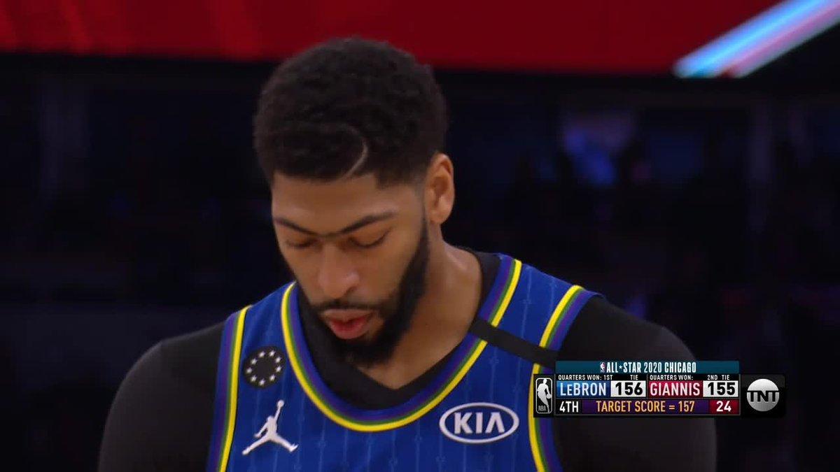 AD WINS IT 🔥 #NBAAllStar