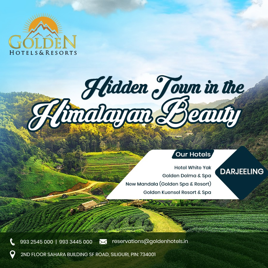 Find the  Hidden Town in the Himalayan Beauty with @Golden_Hotels_ in Darjeeling.  For a Golden Experience, please visit - http://goldenhotels.in  or call us on 0353-6601999  #GHR #Goldenhotelsandresorts #Darjeeling #Himalayan #travelphotography #mondaythoughtspic.twitter.com/Oyx64y2Td5
