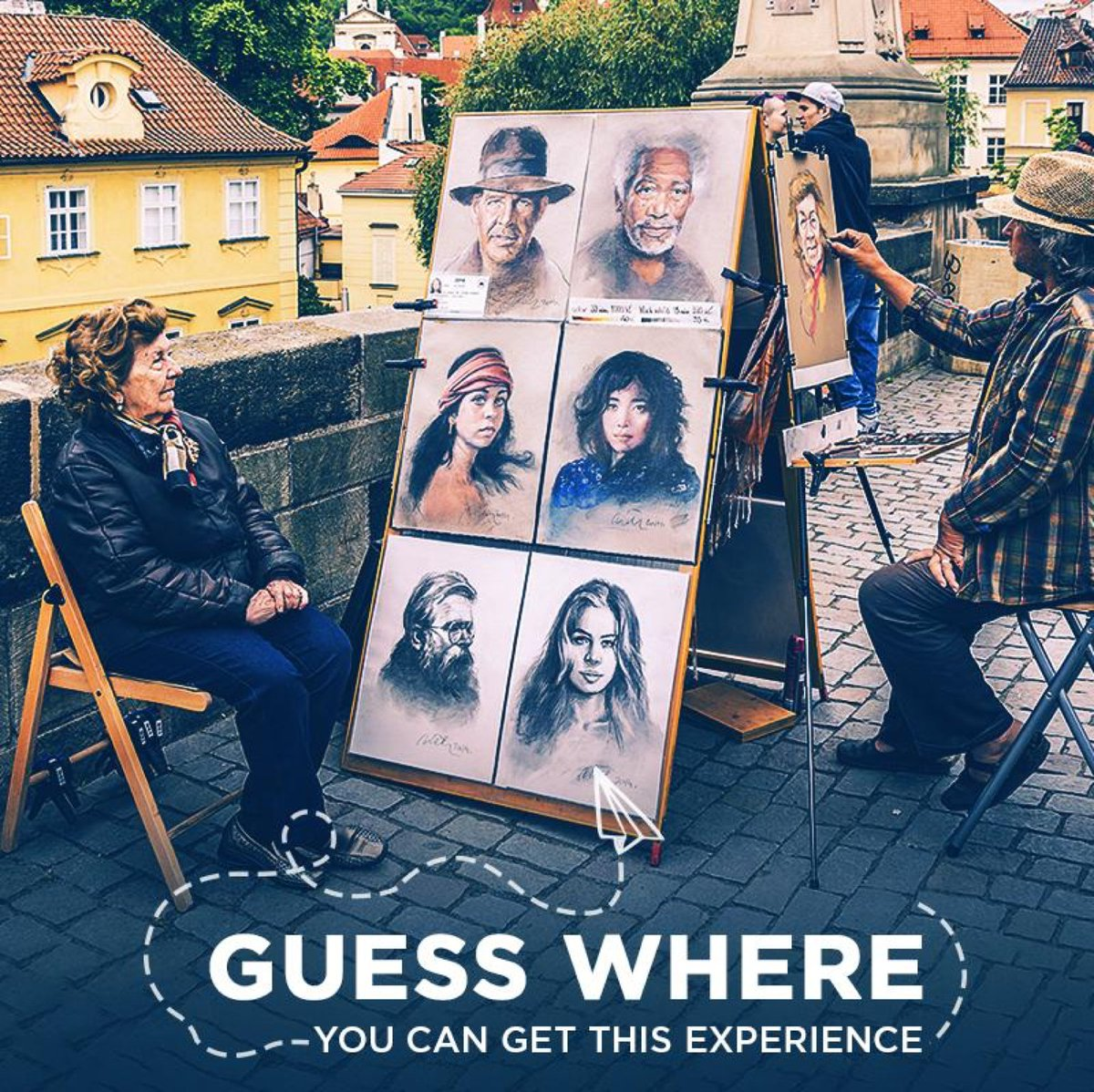 You must have seen people getting their portraits drawn by some fine artists. Well, can you guess where this particular experience is from?   Here's a hint: This place is also called the City of a Hundred Spires.  #ThomasCook #ThomasCookForex #Contest #ContestAlert #ContestIndia <br>http://pic.twitter.com/mQtCmvb9sm