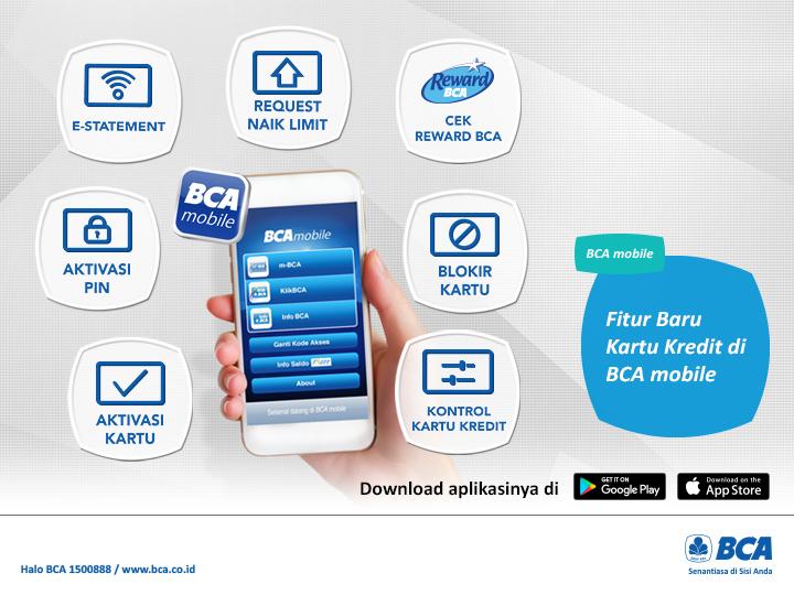 Manfaatkan berbagai fasilitas Kartu Kredit BCA melalui aplikasi #BCAmobile. Segera download aplikasinya di Google Play dan App Store!   Untuk informasi lengkap mengenai fasilitas #BCAmobile, kunjungi http://bit.ly/BCA-mobilepic.twitter.com/keriOstjzE