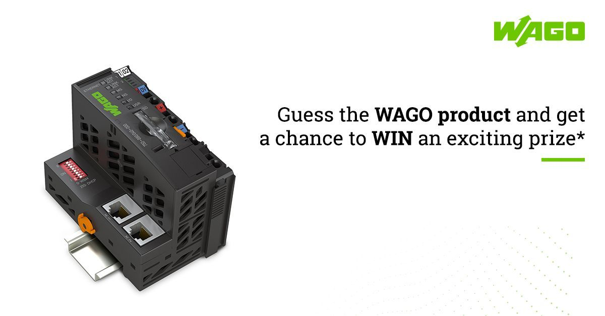 Let's check how familiar you are with the WAGO products. Share your answer in the comment box and do not forget to tag your friends. Answer all the questions in #GuessTheWAGOProduct contest correctly and get a chance to win an exciting prize*   #ContestAlert #WAGO #WAGOIndia