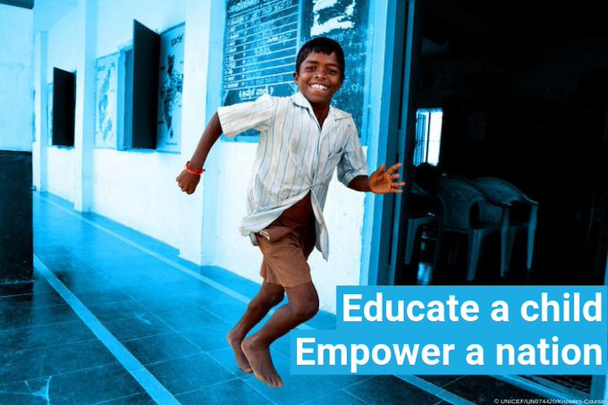 Why is quality #education so important? Because it: lifts people out of poverty empowers women everywhere helps ensure healthier lives reduces inequalities  Foreverychild, education empowers . pic.twitter.com/ERFH8Qmpwe