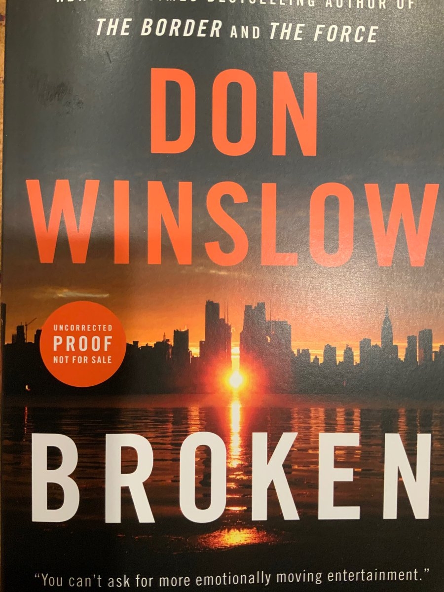 Don Winslow is one of America's greatest storytellers. I'm starting this one tomorrow, and there goes the work week.