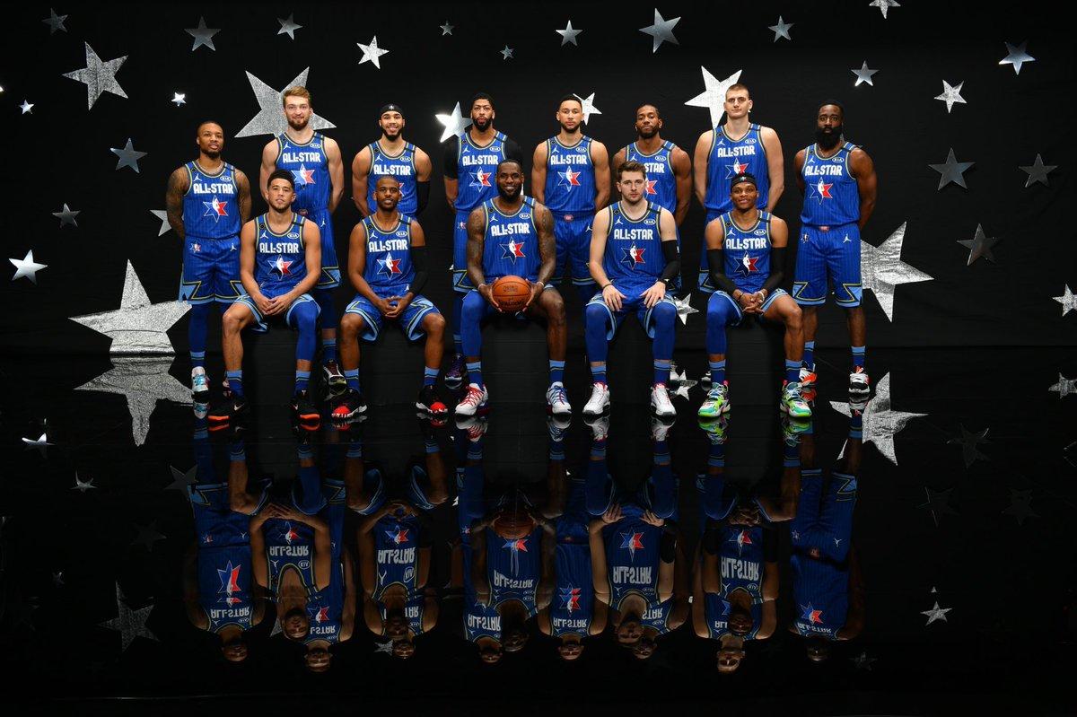 #NBAAllStar başlıyor! #TeamLeBron ve #TeamGiannis maça hazır!