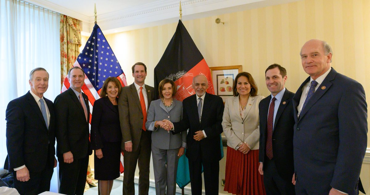 On Saturday, we appreciated the opportunity to meet with Afghanistan President @AshrafGhani to discuss efforts to advance peace and stability, to fight the drug trade, and to ensure that negotiations with the Taliban do not set back the progress achieved by Afghan women.