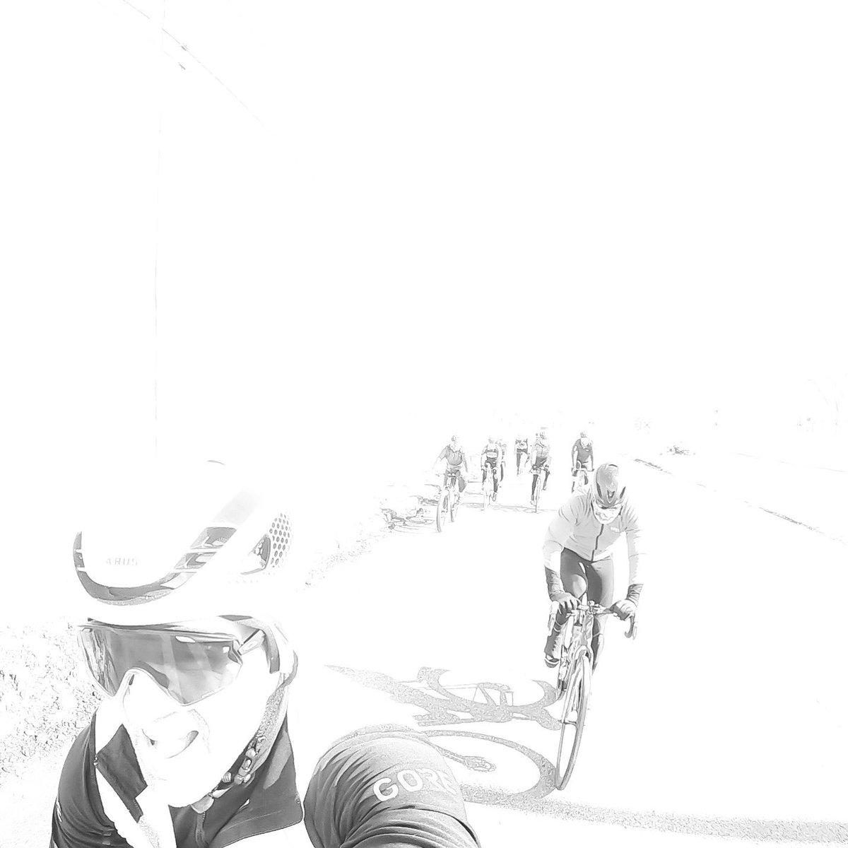 We rode bikes outside today & the sun felt amazing..., so bright it bleached out my pic, http://not.mad.at.it #iamspecialized #gorewear #februaryflahutes #bcfridesbikespic.twitter.com/cGGjN9MqBv