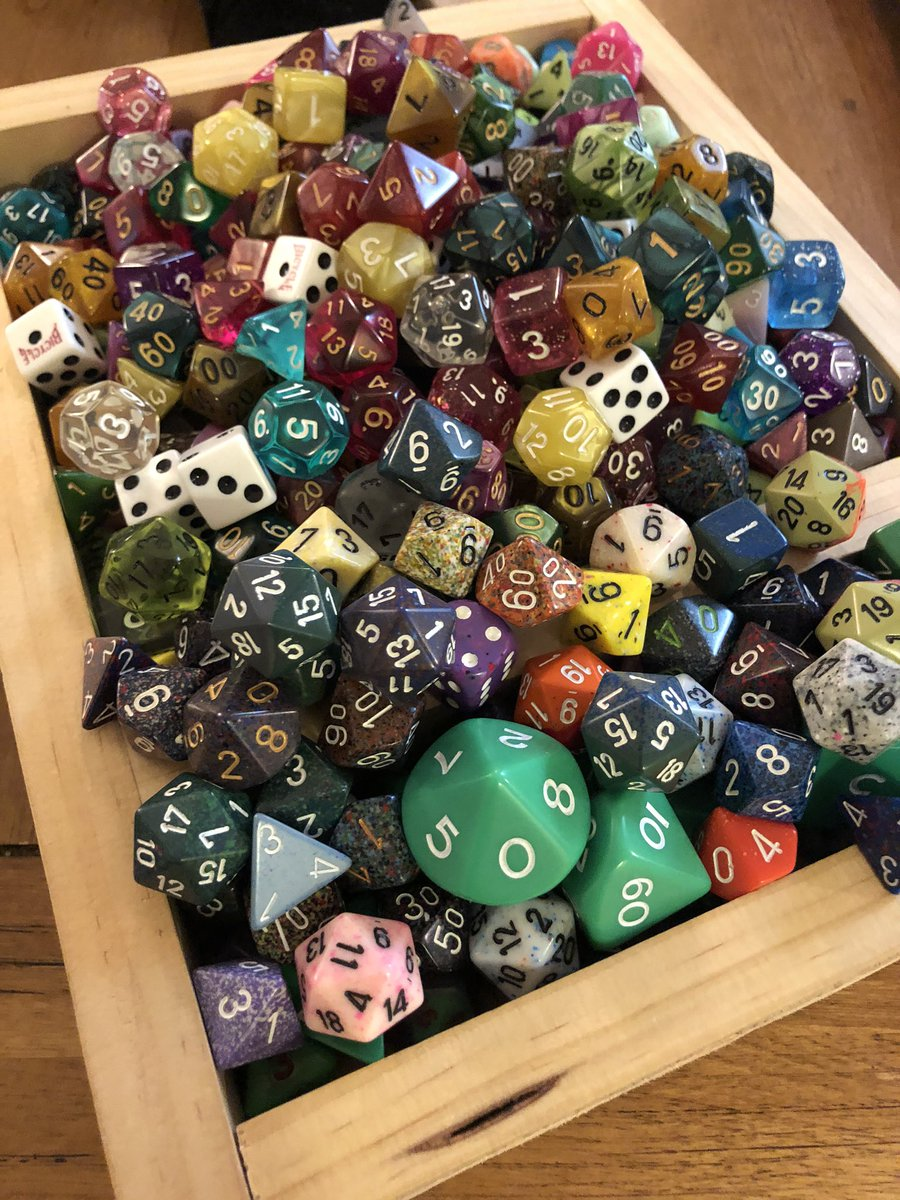 Choosing my dice for game night can be a challenge. #dice #gamenight pic.twitter.com/7OKzmD6lzY