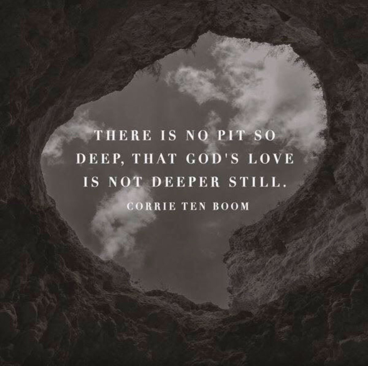There is no pit so deep, that God's love is not deeper still. ❤️