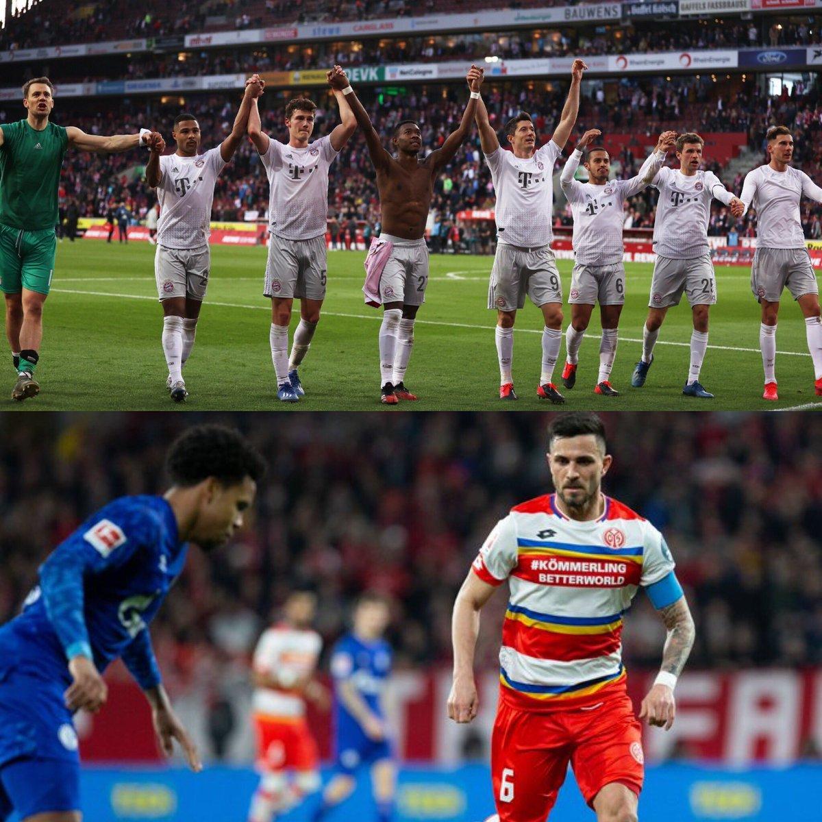 #Bundesliga Fecha 22:  Köln 1-4 Bayern Munich 70' Uth (FCK) 3' Lewandowski, 5' Coman, 12' 66' Gnabry (BAY)  Mainz 0-0 Schalke 04 pic.twitter.com/cEazdNUGu0