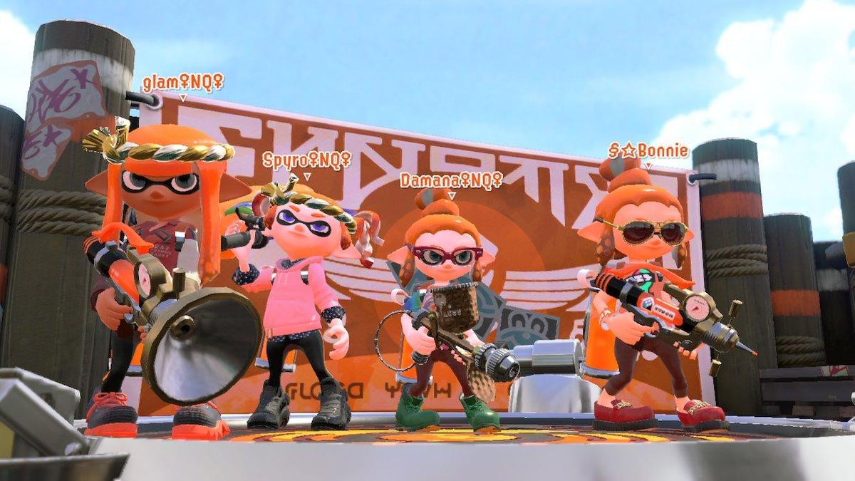 @nintendoqueens #squadgoals #squidgoals #ladiesnight #gamenight #Splatoon2 #NintendoSwitchpic.twitter.com/5TCZ4rkT7f
