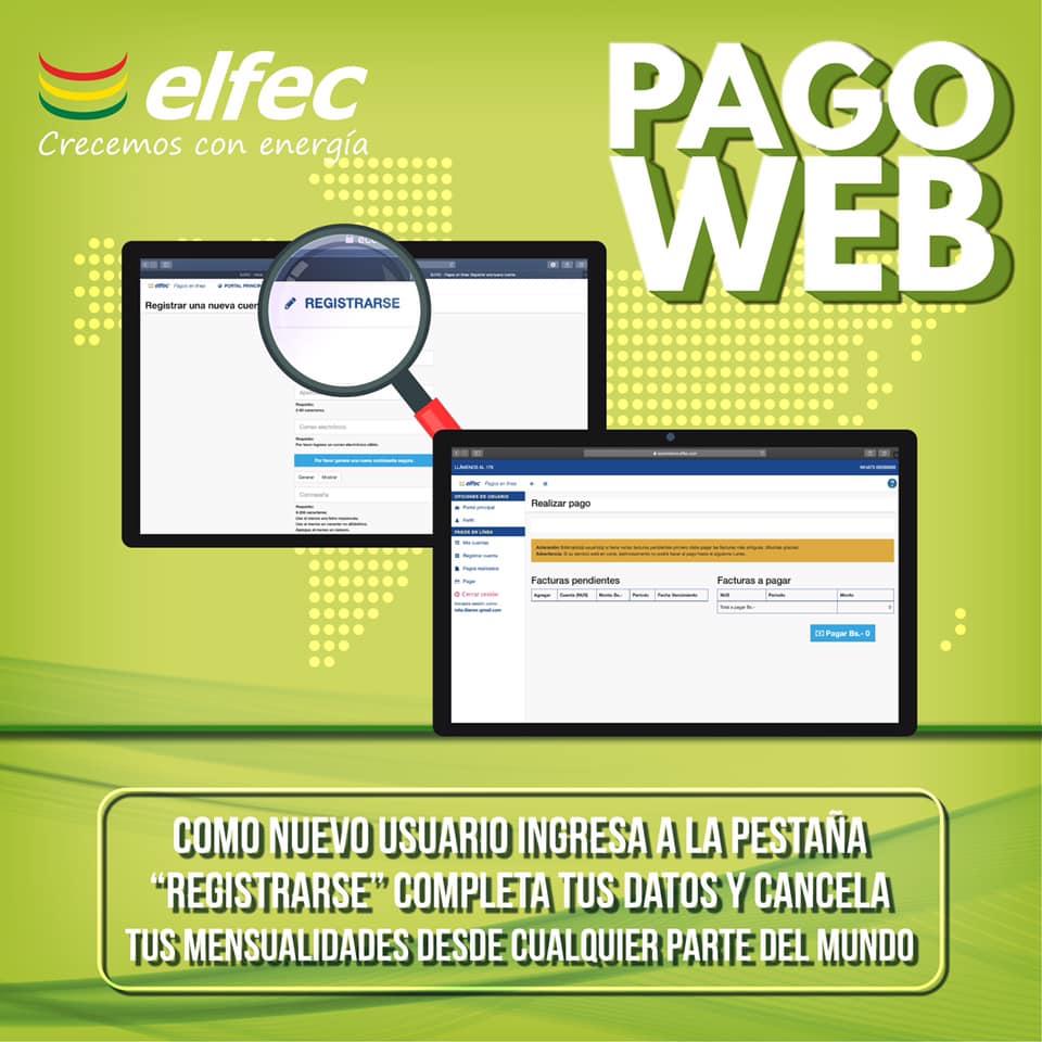 Pago web de Elfec