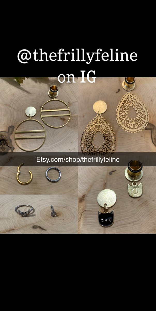 http://Etsy.com/shop/thefrillyfeline… #gauges #eargauges #gauge #gaugedears #girlswithgauges #earpiercings #earpiercing #earrings #plugs #plugearrings #dangleplugs #stretchedears #alternative #alternativegirls #piercings #girlswithpiercings #girlswithtattoos #jewelrypic.twitter.com/EWNtxosf0S