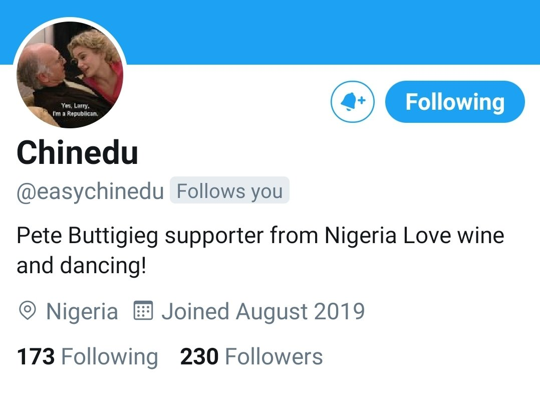 An aside: I had no idea what @easychinedu's race or gender was. I didn't make assumptions - I thought perhaps they weren't from Nigeria & just wanted anonymity. All I knew for sure was that their voice was intelligent, respectful, and often humorous. They are (he is) #TeamPete.pic.twitter.com/Cv82rVXTd7