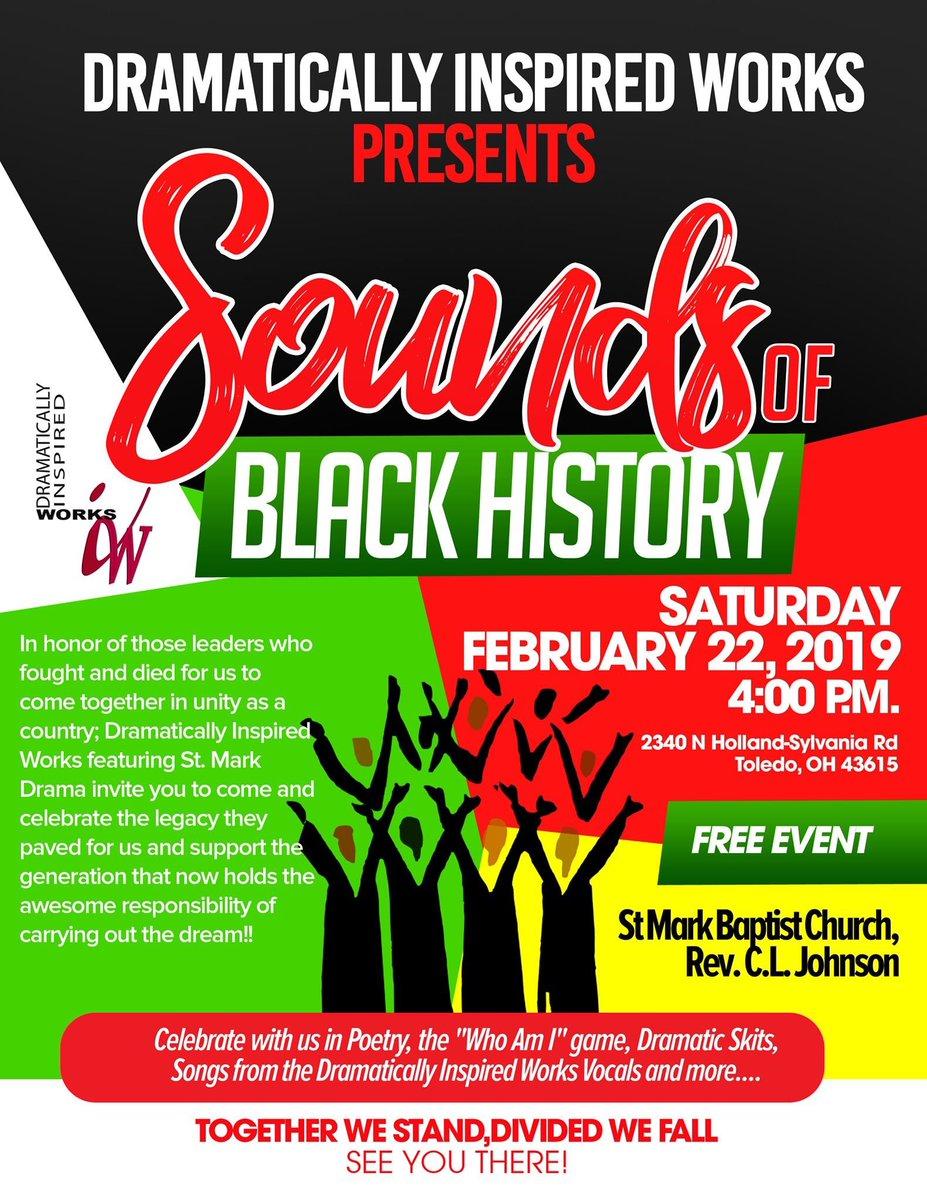 #BlackHistoryMonth in #Toledo #FreeEvent pic.twitter.com/taK3RpGdfY