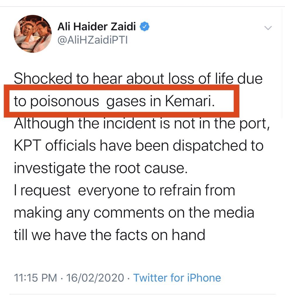 Poisonous gas leaked from a ship which was docked at Keemari. 5 died, 70 hospitalized. #Karachipic.twitter.com/kZRTz4wDnn