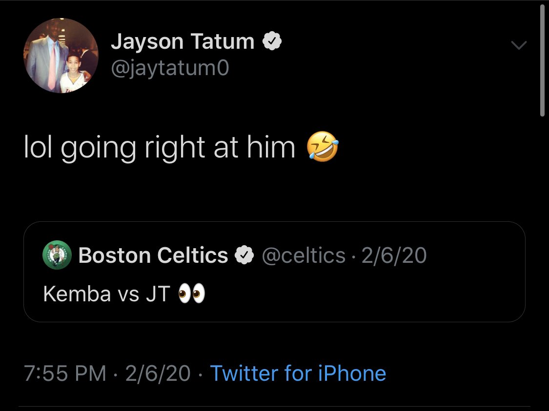 Noted truth teller Jayson Tatum