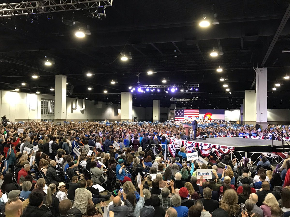 11.4k people came out to see Bernie tonight.