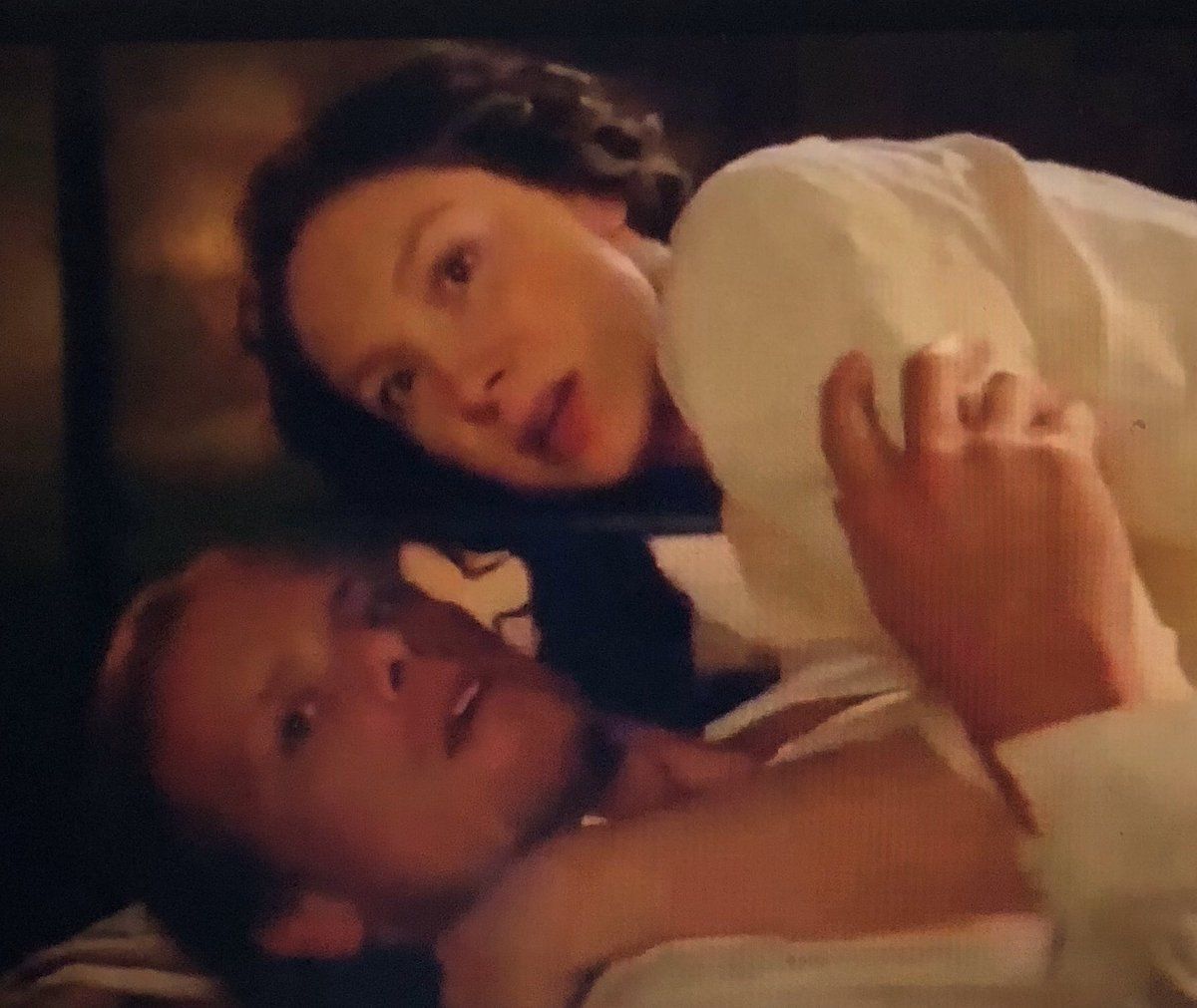 No comments about Grand Pa and Grand Ma gettin' interrupted?? #OutlanderSeason5Premiere  #TheFrasers   #Outlander <br>http://pic.twitter.com/mPuZgITQTo