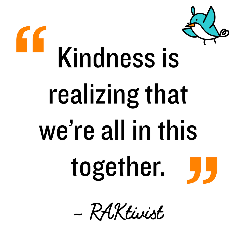 It's Random Act of Kindness Day ...pass on the kindness! #NationalKindnessDay