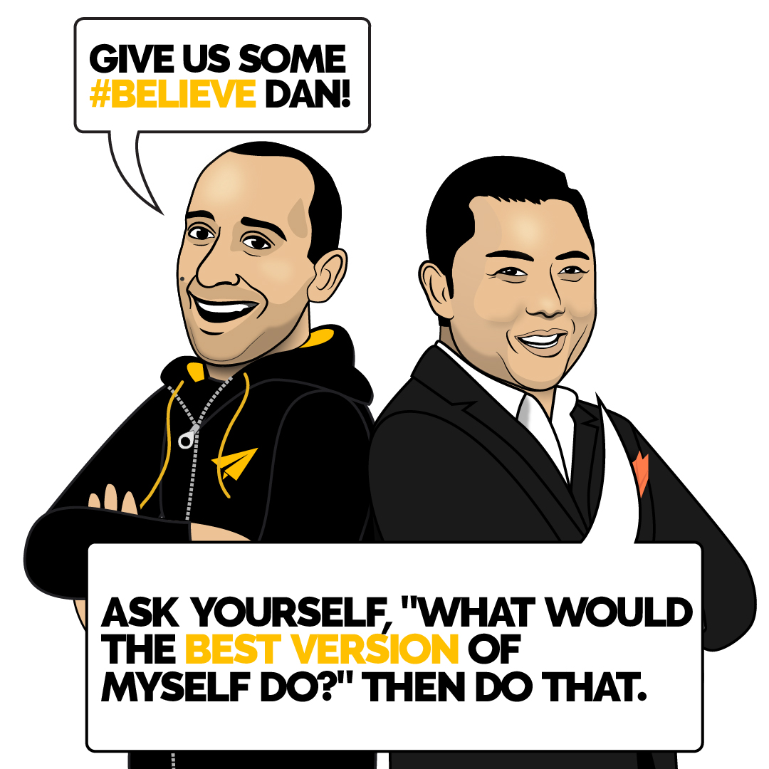 """Ask yourself, """"what would the best version of myself do?"""" Then do that. @danlok 