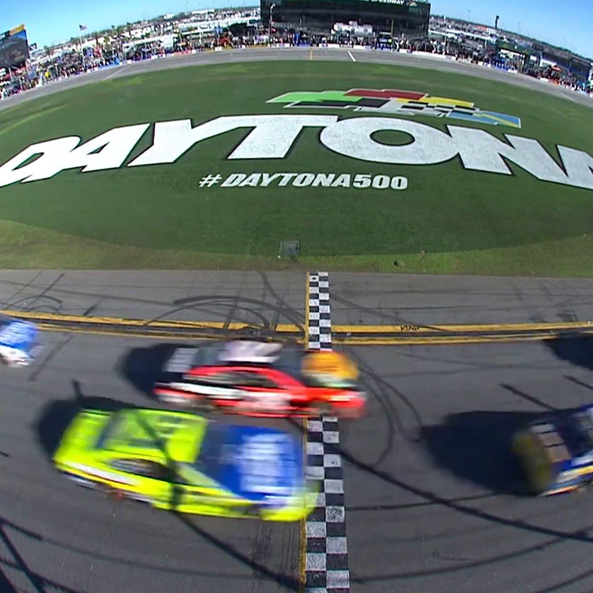 Racing for a chance at history. #DAYTONA500