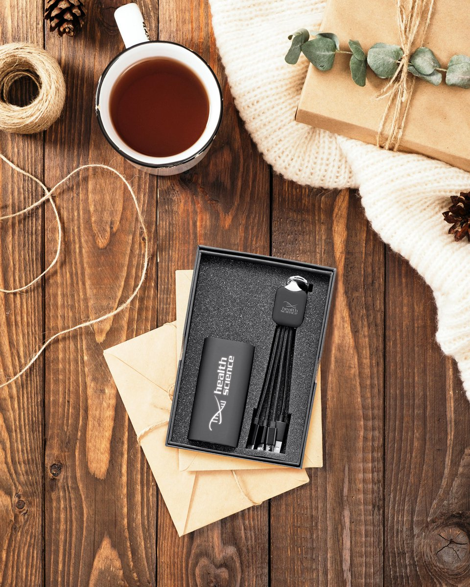 What better way to make your logo stand out, than by watching it glow 🌟Give the perfect gift with our illuminated tech products: the 4-in-1 charging cable kit and the 4,400mAh power bank ✨#illuminate #techitems #SpectorAndCo #PromotionalProducts #perfectgift #GiftSet