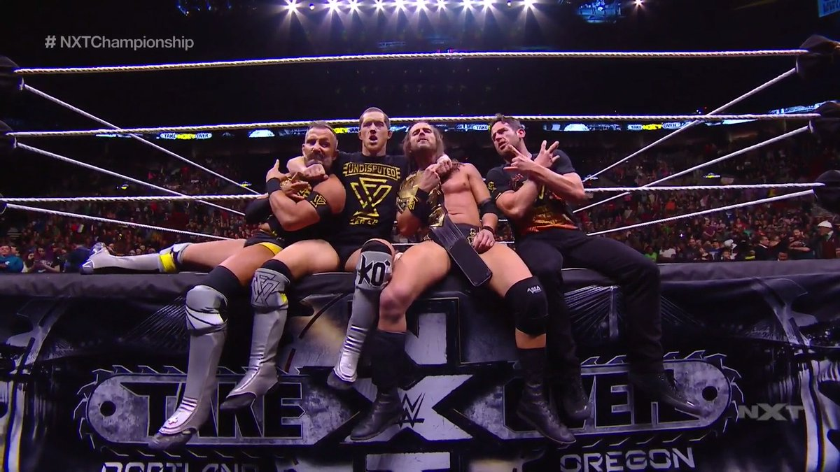 And then there was 1️⃣. 🏆@AdamColePro is still your #NXTChampion! #NXTTakeOver