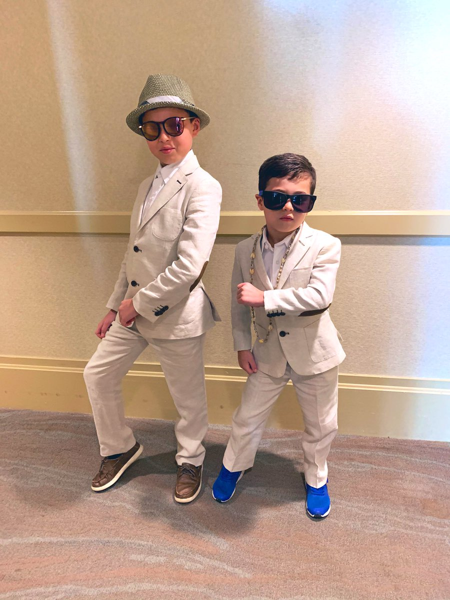 My stepsons are the cutest and coolest.