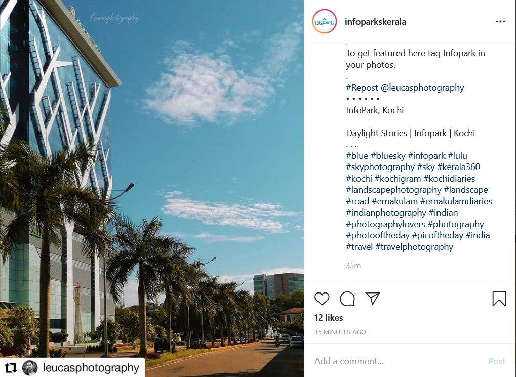 Making space for inspiration. . To get featured here tag Infopark in your photos. . #Repost @leucasphotography • • • • • • InfoPark, Kochi Daylight Stories | Infopark | Kochi .  #blue #bluesky #infopark #lulu #skyphotography #sky #kerala360 #kochi #kochigram #kochidiariespic.twitter.com/nR1jdP7lB8