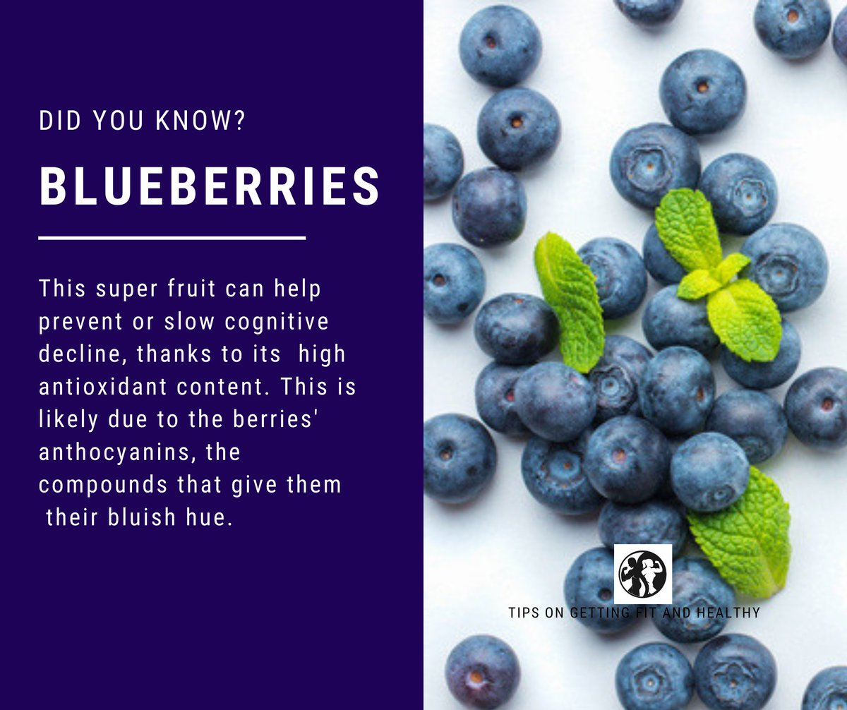 #Blueberries  are often labeled a superfood, they are low in calories and incredibly good for you. 👌