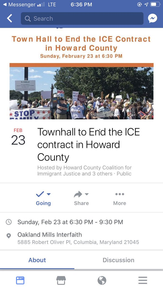 Town hall for #ICEOutHoCo  Tell @HoCoGovExec to stop taking #ICEBloodMoney 2/23 6:30pm Oakland Mills Interfaith, Columbia, MD #AbolishICE #JewsAgainstICE <br>http://pic.twitter.com/mi6kJ4LOkR
