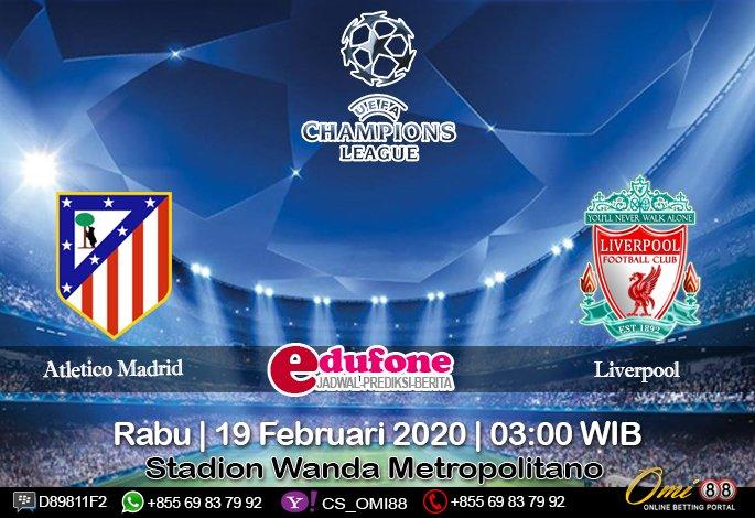 #prediksibola Atletico Madrid vs Liverpool 19 Februari 2020 Skor: 2 : 1 O/U: Under Handicap: 1/4 : 0 1X2: Home Win Time: 03:00 WIB  Stadion: Wanda Metropolitano  Daftar SBOBET: http://omi88s.net/?ref=sbola88    #AtleticoMadrid #Liverpool #daftarsbobet #omi88 #UEFAChampionsLeague pic.twitter.com/OjNA7xENVF