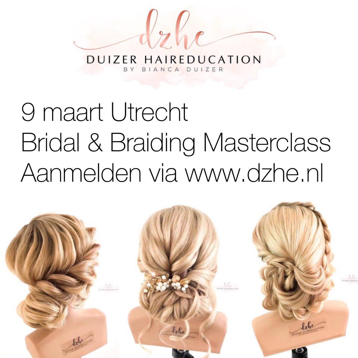 Bridal & Braiding Masterclass 9 maart Utrecht http://www.dzhe.nl  #biancaduizer #hairstylist #bridalhair #DZHE #updo #hairbraids #haireducation #haireducator #salontraining #braidinglife #modernsalon  #hairdo #bruidskapselcursus #bridalhairstylistpic.twitter.com/ZBTR3IXah3