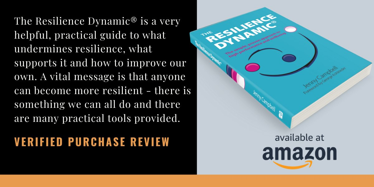 The Resilience Dynamic® is interesting and helpfull at the same time. Read more about @ResilienceJenny first book: http://ow.ly/eBl250ykjrO   #resiliencedynamic #readinglist #wellbeing #stressmanagement #mentalhealth #inspiration #SelfHelp #personaldevelopment
