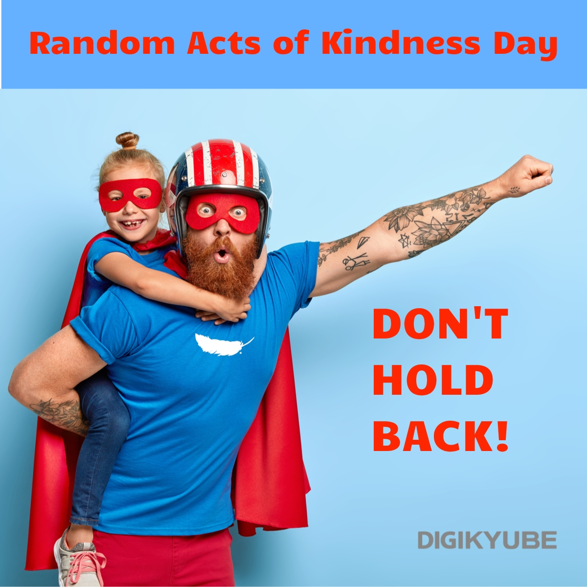 DONT HOLD BACK! #RandomActsOfKindnessDay   Please share to encourage others  #RAoKD  You want more free time to enjoy doing random acts of kindness?  Let us manage your social media so that you can focus on what matters.  @digikyube      http://bit.ly/2YZe4Aj