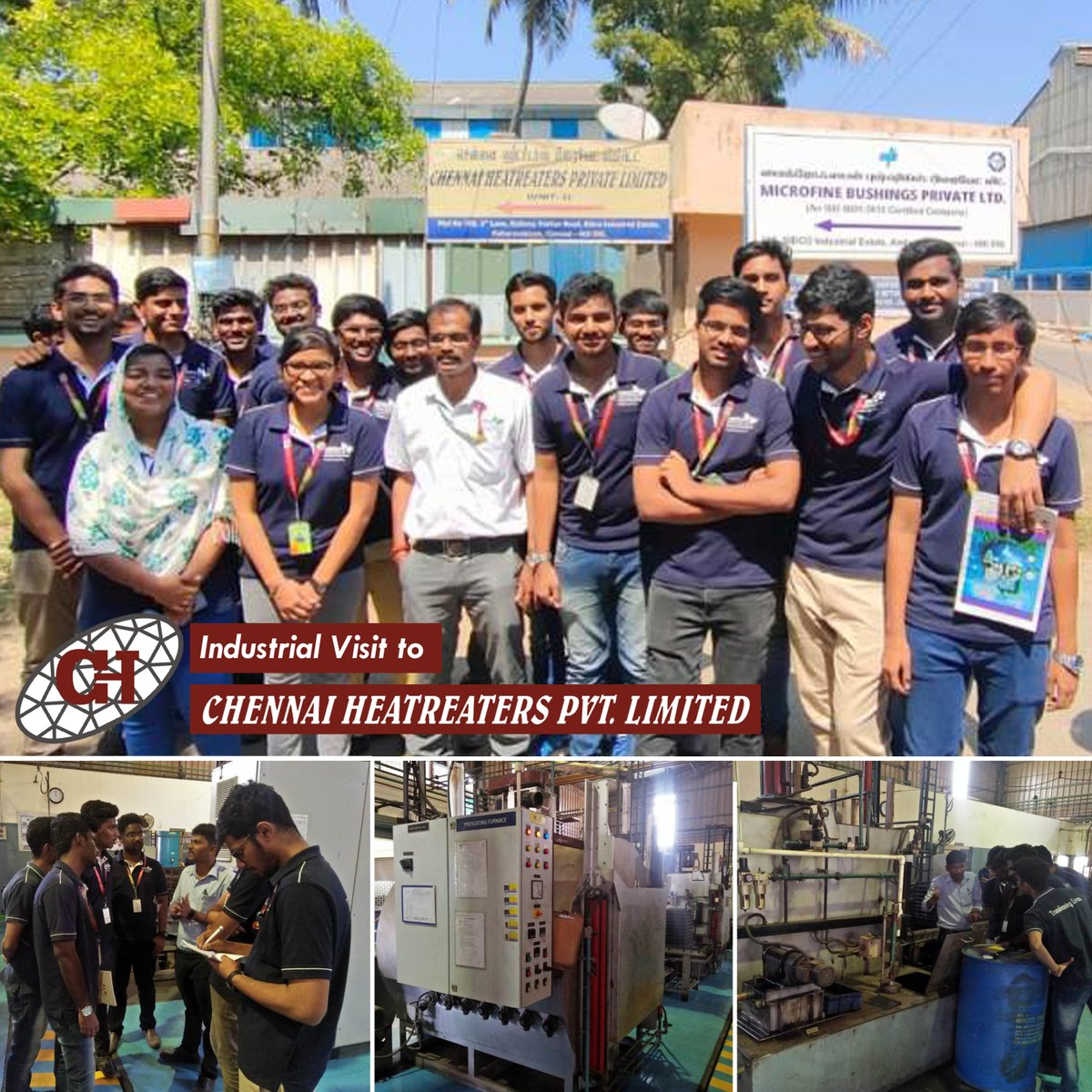 Industrial Visit to Chennai Heat Treaters Pvt Ltd. organised for Second Year Students by Department of Mechatronics on 17th Feb, 2020  #IndustryConnectedInstitute #IndustrialVisit #ChennaiInstituteofTechnology #CITChennai #TransformingLives #Engineeringpic.twitter.com/azHNuEkDs0
