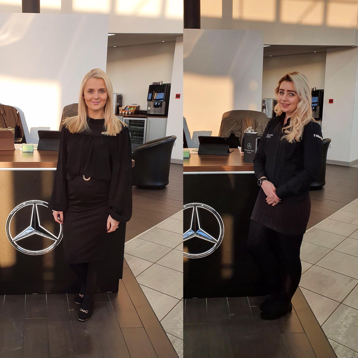 Congrats to Lisa Underhill (L) & Francesca Coster (R) at #Mercedes-Benz of #Preston who have both successfully completed their Mercedes-Benz C Service #Accreditation. 👍🏼   Last year Lisa was named by Autocar in the 2019 top 100 British female rising stars in the car industry!