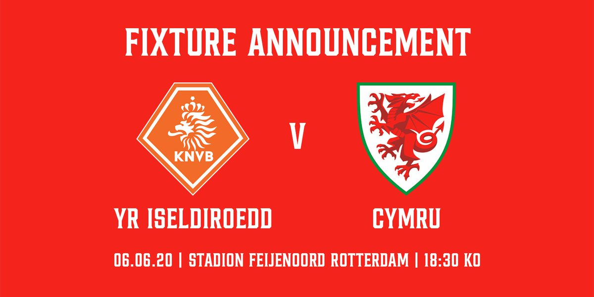 🏴 CYHOEDDIAD GÊM 🏴 🇳🇱 v 🏴 Our final preparation match before we head off to @EURO2020 💪 #TogetherStronger