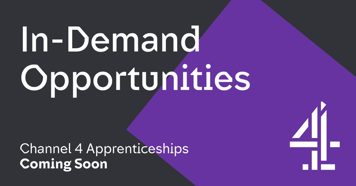 Stay tuned, applications will be opening later today! 👏careers.channel4.com/4talent/appren… #apprenticeships