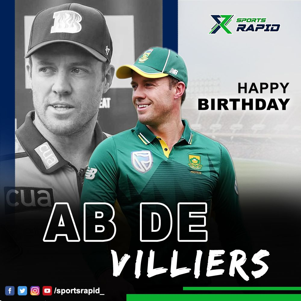 Happy Birthday to one of the greatest batsmen of all time, Ab De Villiers.#abdevilliers #viratkohli #ipl #cricket #rohitsharma #rcb #msdhoni #icc #virat #abd #mr #hardikpandya #stevesmith #dalesteyn #kohli #worldcup #msd #kingkohli #davidwarner