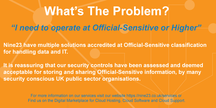 #MondayMood. No problem, Nine23 has another solution for you... if you need to operate at Official-sensitive or higher, don't hesitate to contact us to discuss your needs!  #officialsensitive #techsolutions #mobilesecurity #cloudsecurity #sensitivepic.twitter.com/9ncccOs3Nx