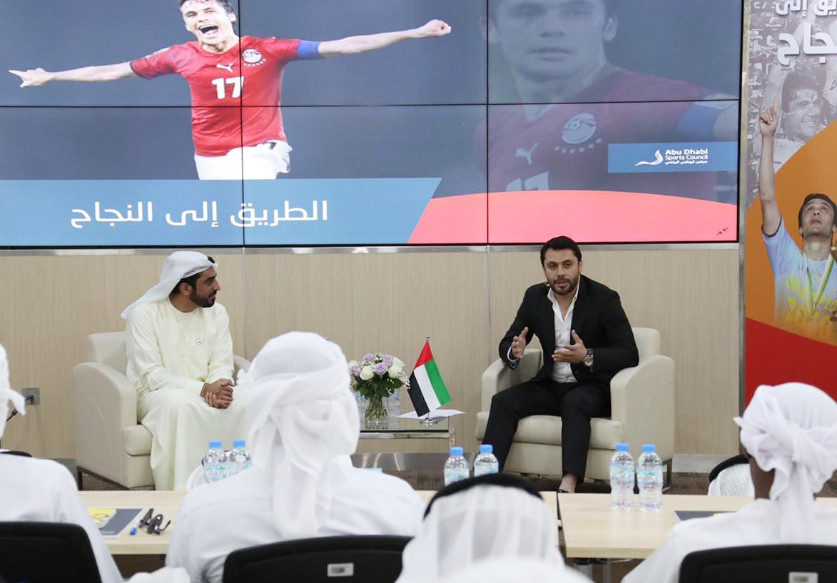 #Roadtosuccess with @AhmedHassan, the most capped player the most capped international male footballer in history: I am happy to here in my second home the #UAE during the preparation for the Egyptian Super Cup taking place at Mohamed bin Zayed stadium, 20 February 2020pic.twitter.com/uaOW0OuXsj